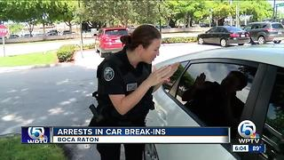 Boca Raton police make arrests after car break-ins - Video