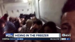 Las Vegas survivors hid in freezer to escape shooting scene - Video