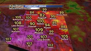 Record-breaking heat in Phoenix Thursday - Video