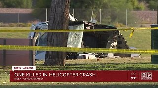 One person killed in helicopter crash in Mesa