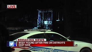 Body found inside Detroit home after fire - Video