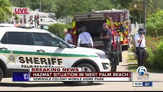 HAZMAT spill at Palm Beach County mobile home park, residents evacuated