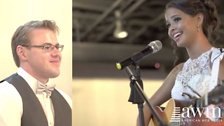Groom Has No Clue Bride Can Even Play Guitar, Her Surprise Has The Room In Tears - Video