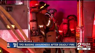 TFD raising awareness after deadly fire - Video