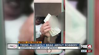 Teens allegedly brag about robbery on Snapchat - Video