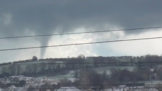 Funnel Cloud Spotted Travelling Across Brixham - Video