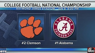 The College Football National Championship: Clemson vs. Alabama