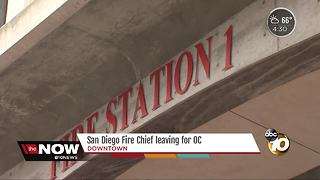 SDFRD chief leaving department for new job - Video