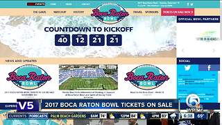 2017 Boca Raton Bowl tickets go on sale Thursday - Video