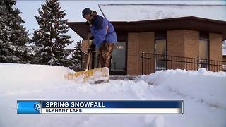 Spring snowfall makes WI look like Winter Wonderland - Video