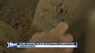Sand shipped in for sculpting competition