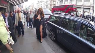Charlotte Dawson arrives at the Dangerous Game premiere - Video