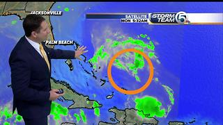 Invest 92L: Monday morning tropical update - Video