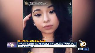 Victim identified as police investigate homicide - Video