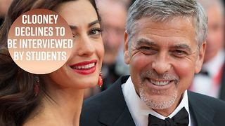 George Clooney pens letter to student protesters - Video
