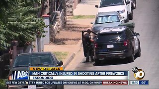 Escondido man critically injured in shooting after fireworks