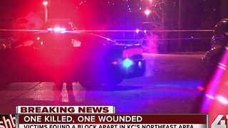 Police: 1 dead, 1 injured in shooting near Thompson and Booth in KCMO - Video
