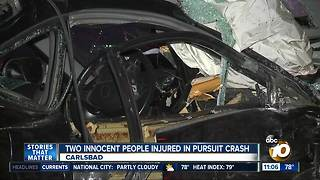 Innocent victims injured in pursuit crash - Video