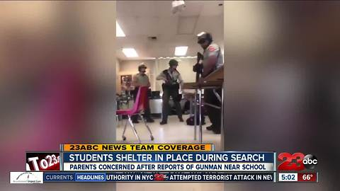 Students shelter in place during lockdown