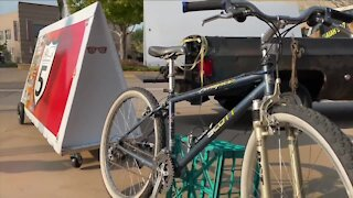Englewood man creates mobile 'Bike Shelters' for people in need