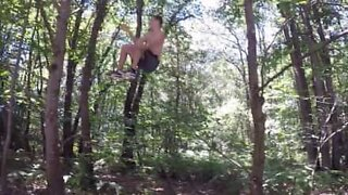 Real-life Tarzan shows off his skills