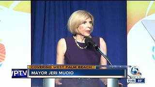 West Palm Beach Mayor Jeri Muoio delivers her final state of city address