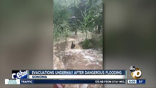 Evacuations underway in Bay Area after dangerous flooding