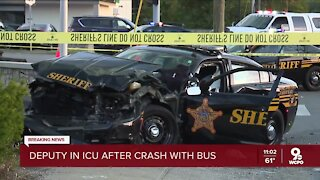 HamCo deputy in critical condition after crash with Metro bus