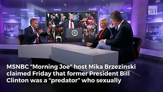 MSNBC Host Admits On-Air: Bill Clinton Was a 'Predator' - Video