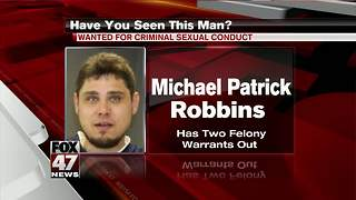 Man wanted for felony criminal sexual conduct in Lansing - Video