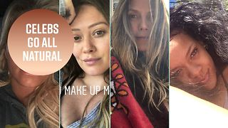 Heidi Klum is joining the make-up free selfie trend - Video