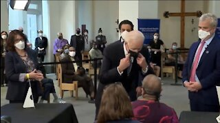 Biden Tells Someone To Socially Distance While Inches From Their Face