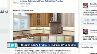 Facebook creates job search feature - Video