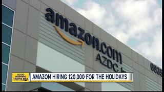 Amazon to hire more than 120,000 holiday workers across US - Video