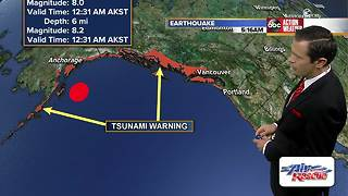 Magnitude 8.2 earthquake strikes Alaska, tsunami watch issued for US West Coast