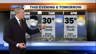 Cloudy and cold Friday night - Video