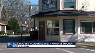 Kenosha double murder suspect appears in court