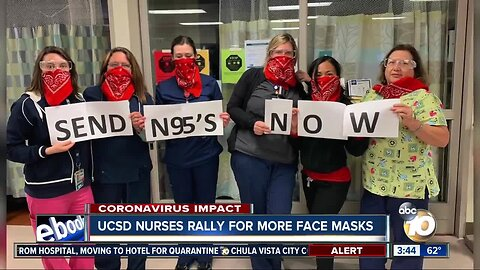 UCSD nurses rally for more face masks