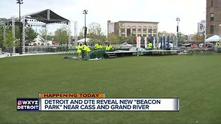 Detroit and DTE reveal new 'Beacon Park' near Cass and Grand River - Video