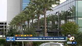 Broadcom considering bid to acquire Qualcomm