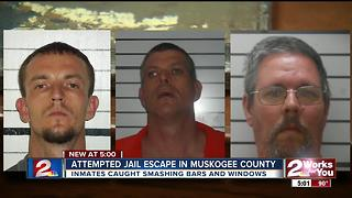 Attempted jail escape in Muskogee County - Video