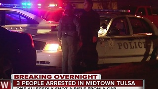 TPD: 3 arrested after firing shots from car - Video