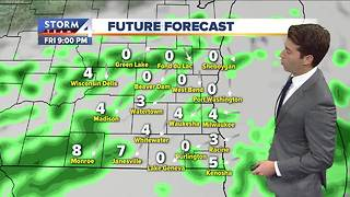 Mostly cloudy with scattered showers Friday