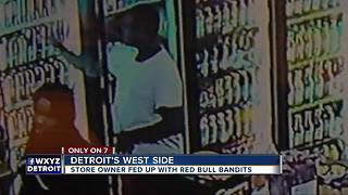 Store owner fed up with Red Bull bandits - Video