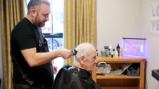 Hair we go again: World's first dementia barber helps clients time travel to 1950's