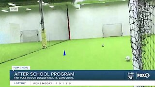 Kids play soccer and more during after school program