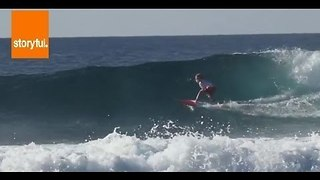 Kid Surfer Flaunts his Flawless Skills - Video