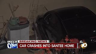 Car crashes into Santee home