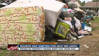 Neighbors say squatters are turning Pasco County home into a mini landfill - Video