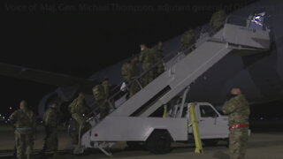 Oklahoma National Guard Soldiers depart Oklahoma